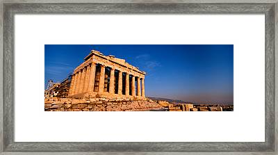 Ruins Of A Temple, Parthenon, Athens Framed Print