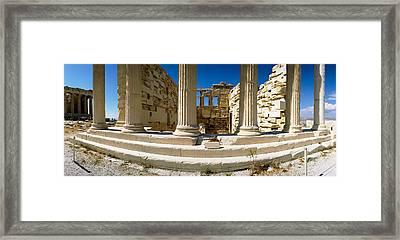 Ruins Of A Temple, Parthenon, The Framed Print