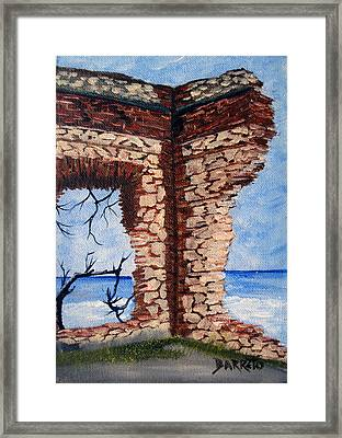 Ruins Of Aguadilla Lighthouse Framed Print