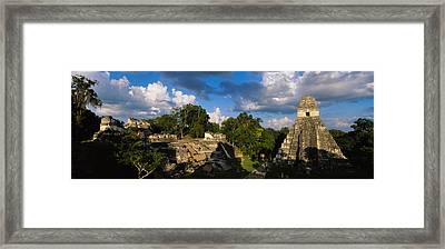 Ruins Of An Old Temple, Tikal, Guatemala Framed Print by Panoramic Images