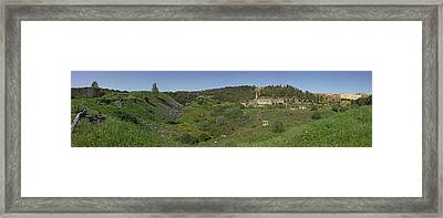 Ruins Of Buildings And Mining Effects Framed Print by Panoramic Images