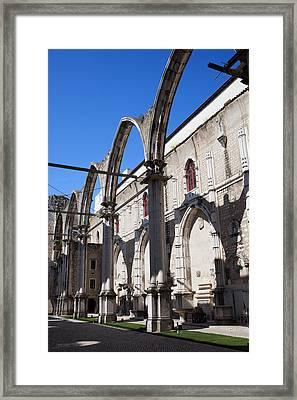 Ruins Of Carmo Convent In Lisbon Framed Print by Artur Bogacki
