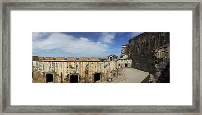 Ruins Of Castillo San Felipe Del Morro Framed Print