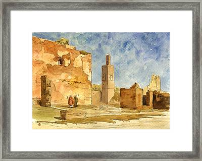 Ruins Of Chellah  Framed Print by Juan  Bosco