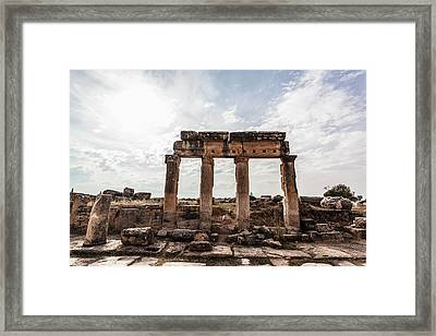 Ruins Of Columns And Lintel Framed Print