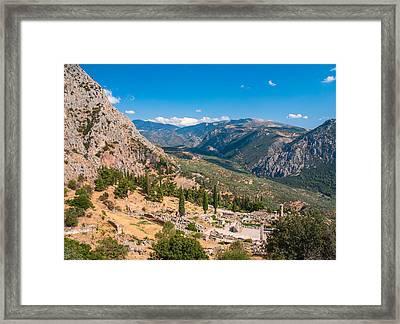 Ruins Of Delphi Framed Print