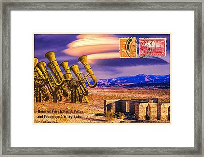 Ruins Of Fort James B. Polka And Prototype Gatling Tubas Framed Print by Dominic Piperata