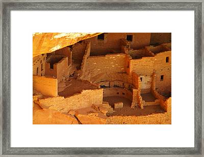 Ruins Of Mesa Verde  Framed Print