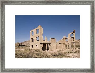 Ruins Of Old Cook Bank Building Framed Print