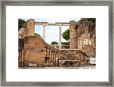 Ruins Of Ostia Antica Framed Print