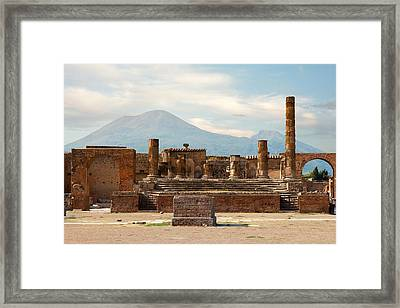 Ruins Of Pompeii Framed Print