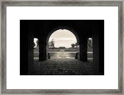 Ruins Of River Fort Designed By Vauban Framed Print