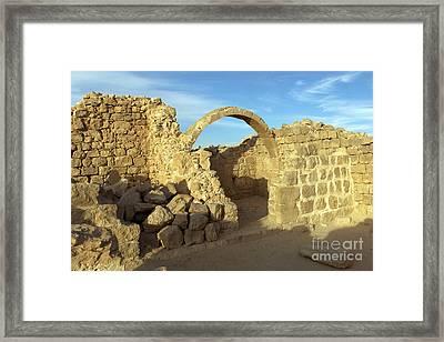 Ruins Of Shivta Framed Print