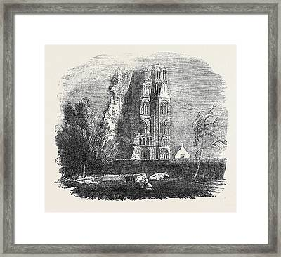 Ruins Of The Augustine Monastery Framed Print by English School