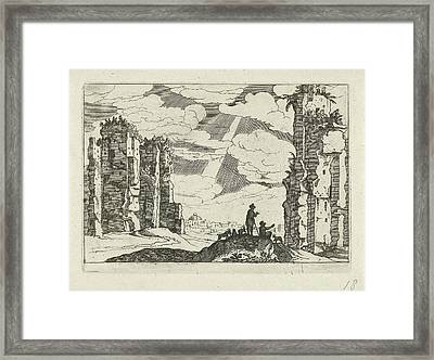 Ruins Of The Baths Of Caracalla, Willem Van Nieulandt II Framed Print by Willem Van Nieulandt (ii) And Anonymous