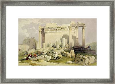 Ruins Of The Eastern Portico Framed Print by David Roberts