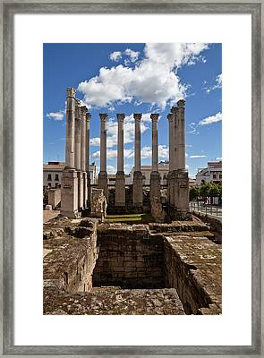 Ruins Of The Roman Temple In Cordoba Framed Print