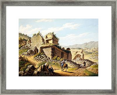 Ruins Of The Stadium, 1790s Framed Print by Gaetano Mercati