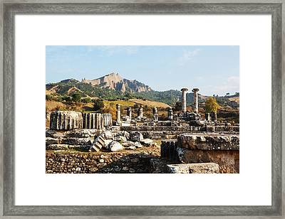 Ruins Of The Temple Of Artemis  Sardis Framed Print by Reynold Mainse