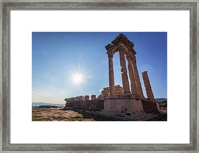 Ruins Of The Temple Of Trajan Framed Print by Reynold Mainse