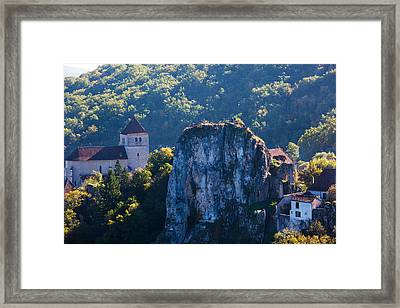 Ruins Of The Town Chateau Framed Print
