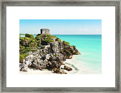 Ruins Of Tulum Framed Print by Asmithers