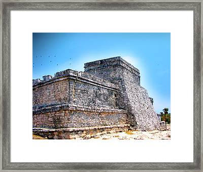 Ruins Of Tulum Mexico Framed Print by Design Turnpike