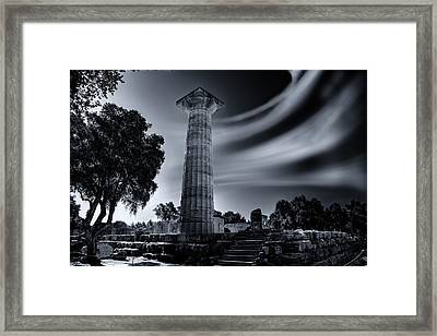 Framed Print featuring the photograph Ruins Of Zeus's Temple At Olympia by Micah Goff