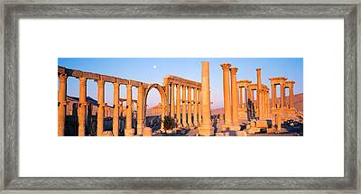 Ruins, Palmyra, Syria Framed Print by Panoramic Images