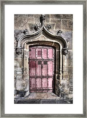 Ruins With Red Door Framed Print