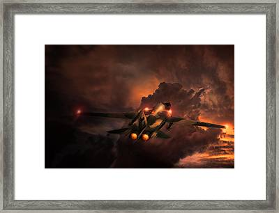 Rule The Night F-111 Framed Print