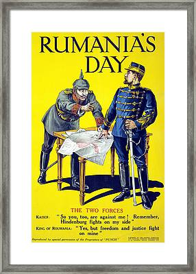 Rumanias Day Framed Print