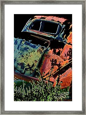 Rumble Seat Framed Print by Barbara D Richards