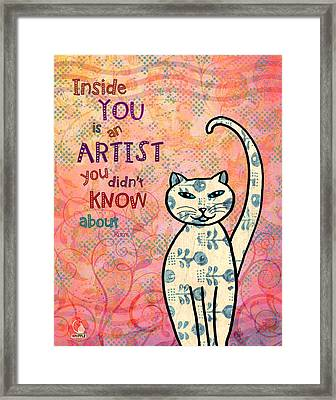 Rumi Cat Artist Framed Print
