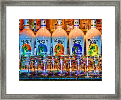 Framed Print featuring the photograph Rums by Clare VanderVeen