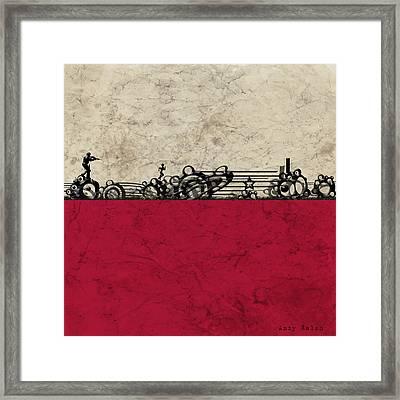 Run Framed Print