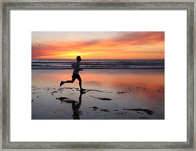Framed Print featuring the photograph Run Away by Nathan Rupert