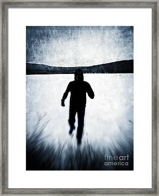 Run  Framed Print by Edward Fielding