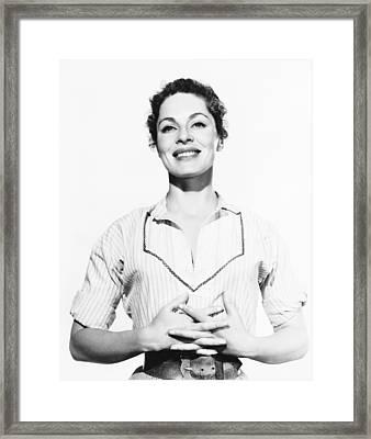 Run For Cover, Viveca Lindfors, 1955 Framed Print