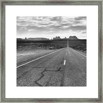 Run Forrest Run Framed Print by Silvio Ligutti
