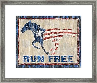 Run Free Framed Print by JQ Licensing