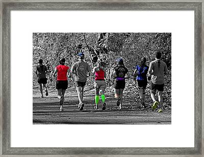 Run In The Park Framed Print by Tom Gari Gallery-Three-Photography