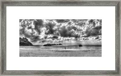 run Framed Print by Mario Legaspi