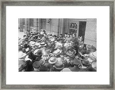 Run On Berlin Bank Framed Print by Library Of Congress