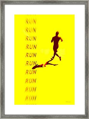 Run Run Run Framed Print by Brian D Meredith