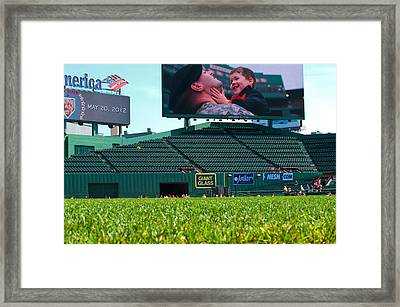 Run To Home Base 2012 Framed Print by Paul Mangold
