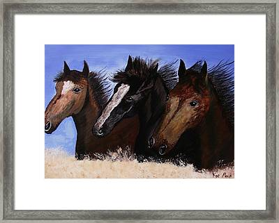 Run With Endurance Framed Print by Kat Poon