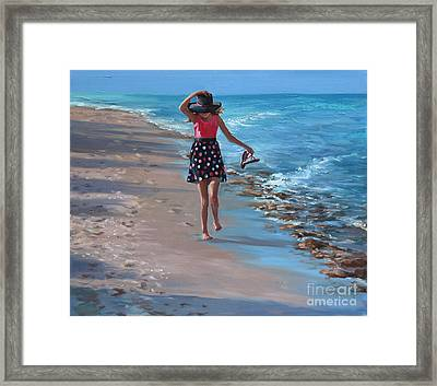 Run With Joy Framed Print by Laurie Hein