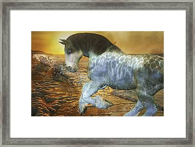 Run With Me Sunrise Framed Print