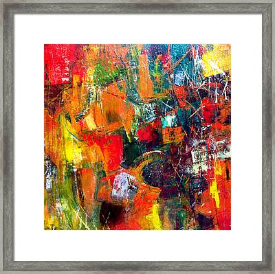 Framed Print featuring the painting Runaround by Katie Black